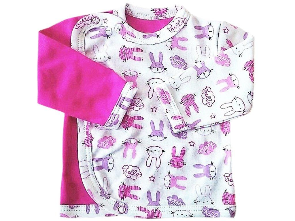 Kabátek zajíc růžový