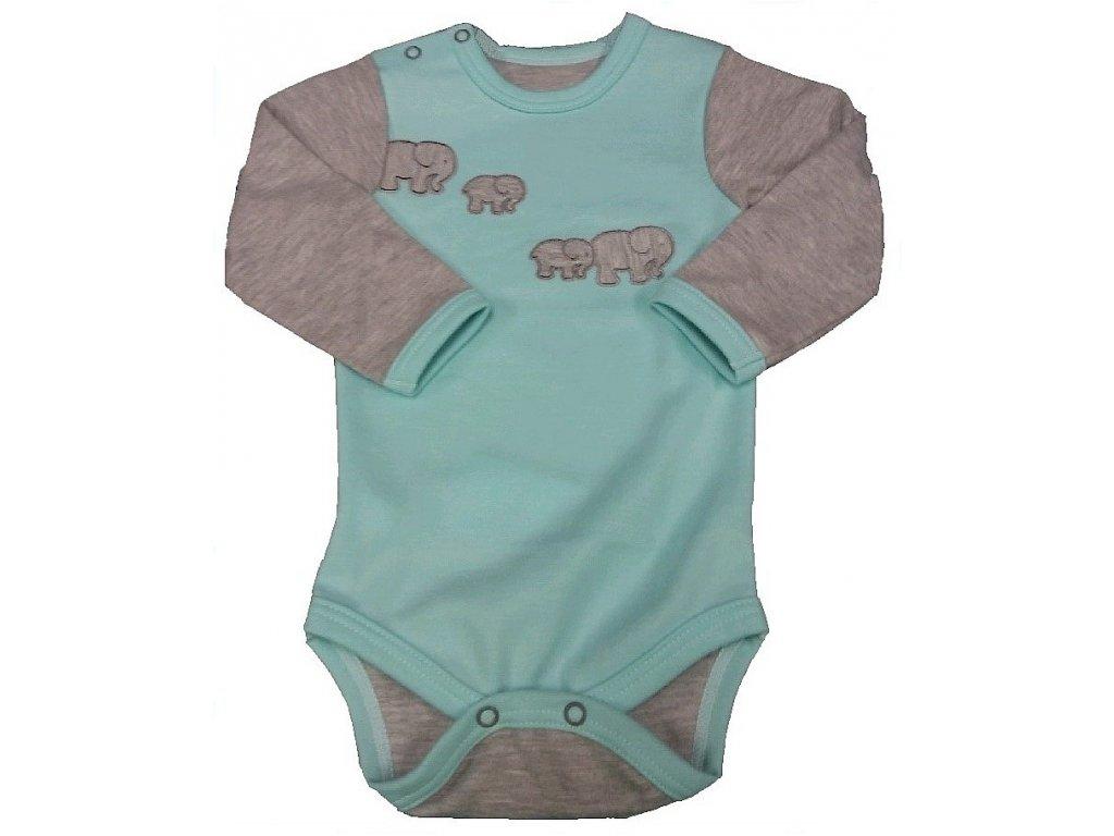 Body slon mint se zapínáním na rameni (od vel. 74)