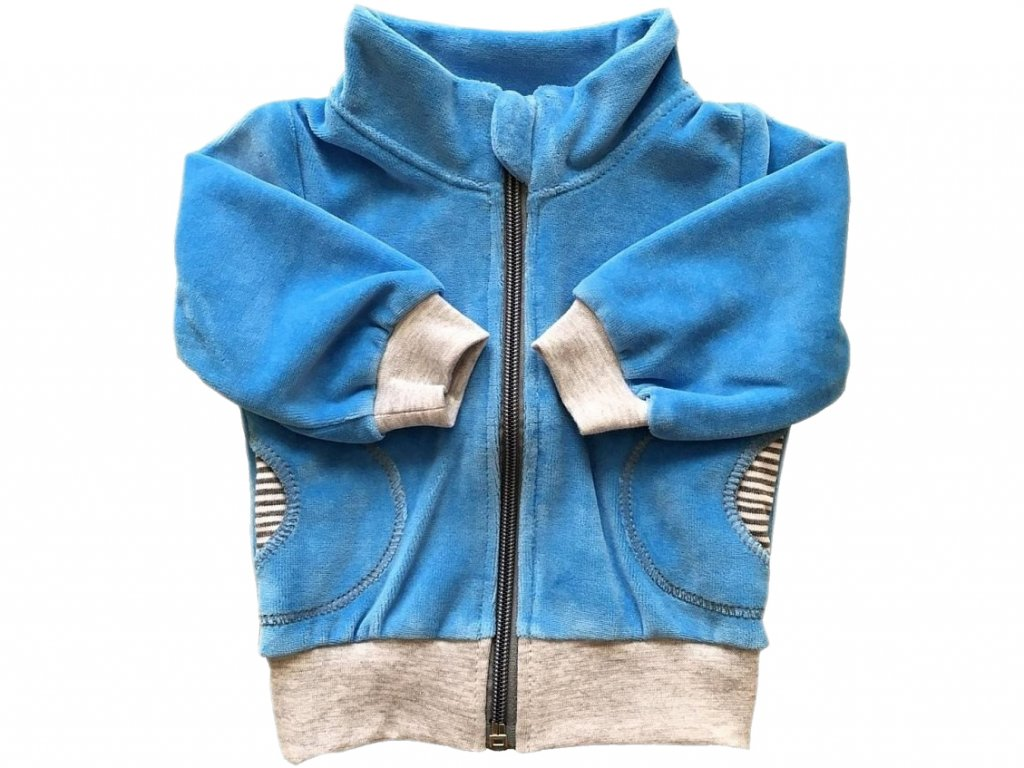 Mikina velu sv.modrá stojáček