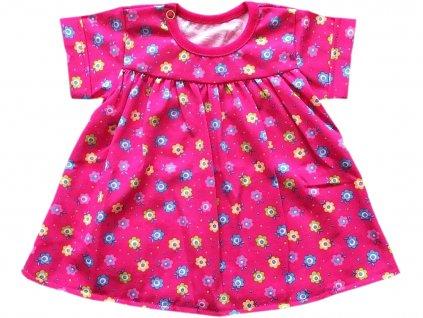 Šaty malina kytičky